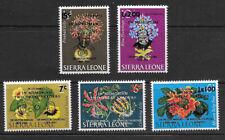 SIERRA LEONE , 1965 , AIRMAIL , CHURCHILL , SET OF 5 O.P. & R.V. , VLH ,CV$18.55