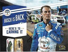 2016 Kevin Harvick Busch Jimmy Johns NASCAR Signed Auto 8.5x11 Post Hero Card
