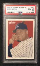 2006 Bowman Heritage #50 DEREK JETER Yankees PSA 10 Gem Mint HOF