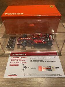 1/43 Tameo TB015 Ferrari F2007 Kimi Raikkonen 2007 Winner Chinese GP No BBR