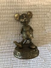 Vintage Disneyland Walt Disney Production Gold Tone Paperweight Mickey Mouse