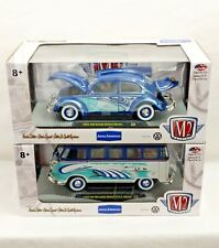 M2 Machine 1960 VW Microbus Deluxe 52 VW Beetle 1:24 Scale Surfs Up