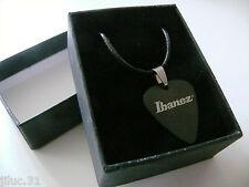 COLLIER Pendentif métal satin noir -  Ibanez -