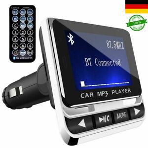 Neueste Auto KFZ Bluetooth FM Transmitter Freisprecheinrichtung MP3 Player Neu