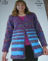 Original King Cole Knitting Pattern Girl's DK Cardigan & Tunic No 3406