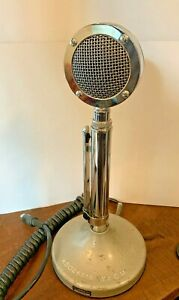 Vintage Astatic D-104 CB Radio Microphone with T-UG8 Stand BEAUTIFUL (UNTESTED)