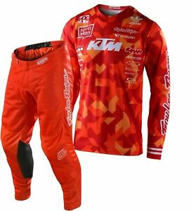 2021 TROY LEE DESIGNS TLD GP AIR TEAM KTM CONFETTI RACE KIT SUIT ORANGE MX ADULT