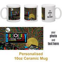 Glastonbury Festival 2019 Ceramic Photo Mug Personalised Add Your Text & Photo