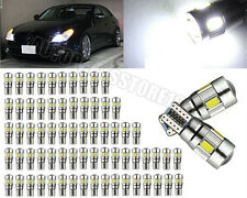 50Pcs Car T10 W5W 192 2825 Canbus Error Free 6SMD LED Projector Side Light White