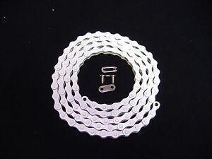 WHITE 1/2 X 1/8 - 112 CHAIN LOW RIDER BIKE BICYCLE BACH CRUISER