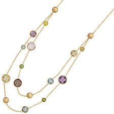 Echte Edelstein-Halsketten & -Anhänger aus Gelbgold mit Amethyst für Damen