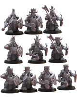 Lost Kingdom Miniatures Big Hats Elite Guard with Axes Kings of War, 9th Age