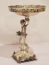 Esate Vintage  Figural Silver Centerpiece Tazza