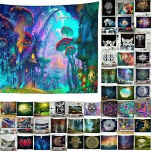 Mandala Tapestry Psychedelic Forest Wall Hanging Throw Blanket Bedspread Mat HOT