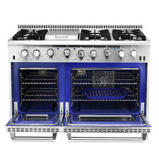 "New listing Gas Range 48"" Thor Kitchen Double Oven Stainless Steel Griddle 6-Burner Hrg4808U"