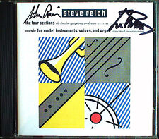 Steve REICH Michael Tilson THOMAS Signed FOUR SECTIONS CD London Symphony