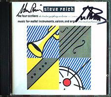 Steve REICH Michael Tilson THOMAS Signed FOUR SECTIONS CD London Symphony
