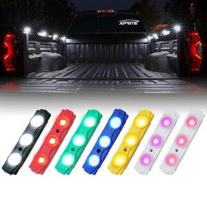 Xprite 8Pcs LED Rock Lights Under Body Pickup Trucks Bed Deck/Grille Light Pods