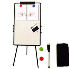 "Office 23""x35""Magnetic Dry Erase White Board Portable Tripod Stand Marker Eraser"