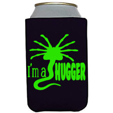 Alien I'm a Hugger Black Can Cooler Can Sleeve Bottle Holder