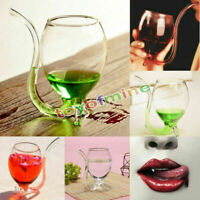 300ml/160ml/100ml Vampire Devil vino di vetro con costruito nel  potabile paglia