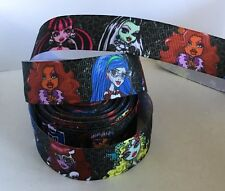YARD MONSTER HIGH DOLLS GIRLS  CHARACTER GROSGRAIN RIBBON  #43