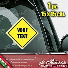 Adhesive Stickers Car Motorbike Caravan Customizable your text Signal aboard