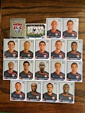 USA UNITED STATES TEAM 18 PANINI STICKERS, WORLD CUP SOUTH AFRICA 2010 #AFRICA10
