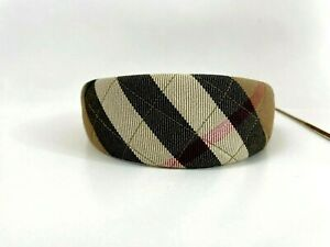 Burberry Canvas Nova Check Print Quilted Headband Wide