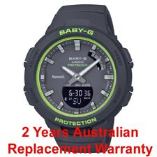 CASIO BABY-G G-SQUAD STEP TRACKER WATCH BSA-B100SC-1A BLACK x GREEN 2Y WARRANTY