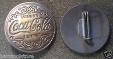 DRINK COKE - COCA COLA LICENSE VENDOR BADGE COLLECTOR  PINBACK SODA POP