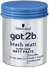 1X Schwarzkopf Got 2B Beach Matt Surfer Look Matt Paste Medium Hold 100ml
