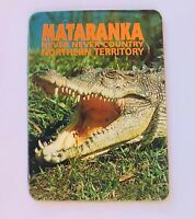 Mataranka Crocodile Northern Territory Australia Souvenir Magnet Vintage (L37)