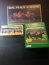 VINTAGE 1966 WIN PLACE SHOW 3M SPORTS BOARD GAME PLUS 2 OTHER HORSE GAMES