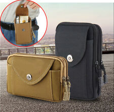 Men's Nylon Waist Bag Belt Loop Holster Wallet Case Phone Pouch Sleeve Cover