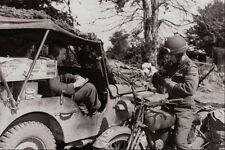 507069 Dispatch Rider France 1944 Dean DND 137516 A4 Photo Print