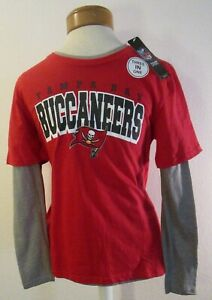 NWT NFL Tampa Bay Buccaneers Youth 3-In-1 Combo T-Shirt L 14/16 Red/Grey MSRP$30
