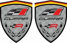 Seat Leon Ibiza Cupra R 80mm Wing / Panel Decals Stickers Quality laminated