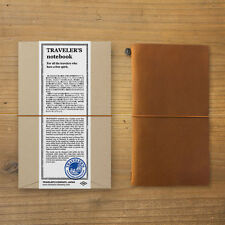 MIDORI TRAVELER'S notebook Regular size Camel Stationery Leather cover Japan
