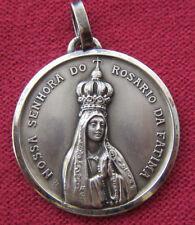 Antique Catholic Religious Medal - NOSSA SENHORA DO ROSARIO DA FATIMA - OLD