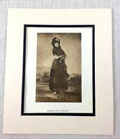 1922 Antik Aufdruck Porträt Von Ein Lady Marquesa De Las Mercedes Francisco Goya