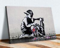 BANKSY CANVAS STREET WALL ART PRINT FRAMED ARTWORK - Slave Labour NEW