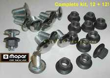 ✔ NOS Mopar Bumper Bolts & Black Phosphate Nuts Cuda Charger Duster R/T Coronet
