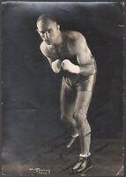 Boxe. Marcel Thil. Photographie dédicacée vers 1935.