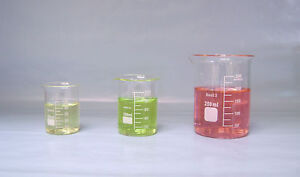 Beaker Set 250mL 100mL 50mL Griffin Borosilicate Glass Lab New beakers