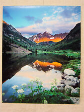"FRANKLIN B. WAY - Images Of The Land - Sunrise At Maroon Lake (CO) - 16"" x 20"""