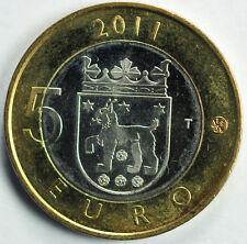 2011 5 Euro FINLAND TAVASTIA coin in MS