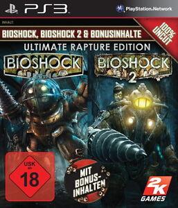 PS3/Sony Playstation 3 Spiel- Bioshock 1+2 Ultimate Rapture Ed. (mit OVP)(USK18)