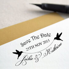 Personalized Custom Name Save The Date Wedding Handle Mounted Rubber Stamp RE674