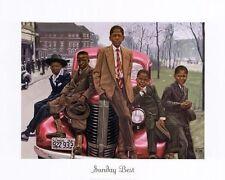 AFRICAN AMERICAN ART-PRINT-SUNDY BEST-BY GREGORY MYRICK